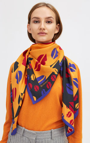 Rodebjer Rodebjer Silk Scarf Lips